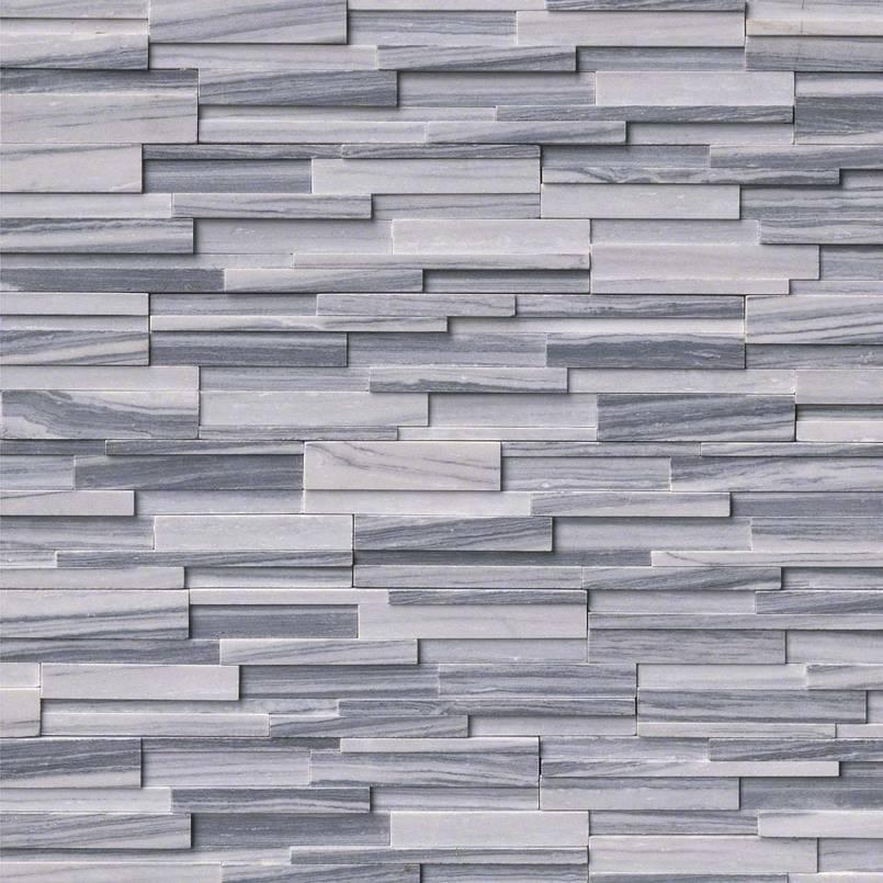 Alaska Gray 6x18x6 3D Honed Corner Ledger Panel