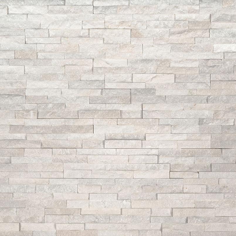 Arctic White 4.5X9 Split Face Mini Corner Ledger Panel
