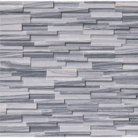 Alaska Gray 6x24 3D Honed Ledger Panel