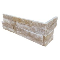 Arctic Golden 6x12x6 Split Face Corner Ledger Panel