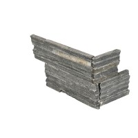 Charcoal 6x12x6 Split Face Pencil Corner Ledger Panel