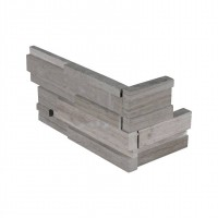 Gray Oak 4.5X9 3D Honed Mini Corner Ledger Panel