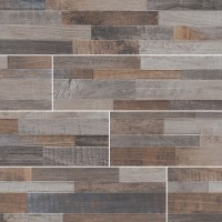 Keywood Multicolor 6X24 Matte Porcelain Ledger Panel