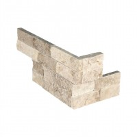 Roman Beige 4.5x9 Split Face Mini Corner Ledger Panel