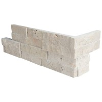 Roman Beige 6X12X6 Split Face Corner Ledger Panel