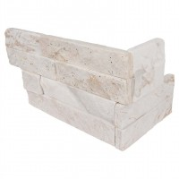 Royal White 6X12X6 Split Face Corner Ledger Panel