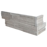 White Oak 6x12x6 3D Honed Corner Ledger Panel