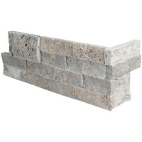Silver Travertine 6X12X6 Corner L Panel