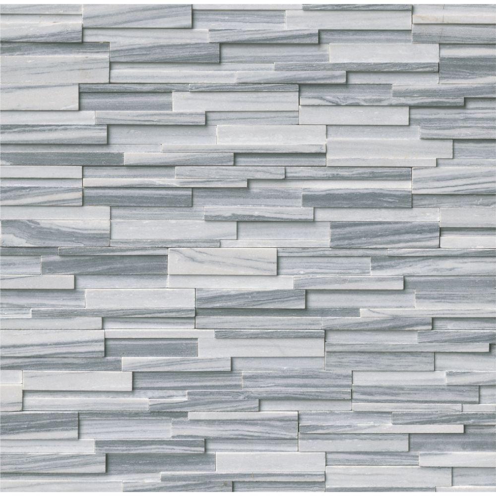 Alaska Gray 6x12x6 3D Honed Corner Ledger Panel