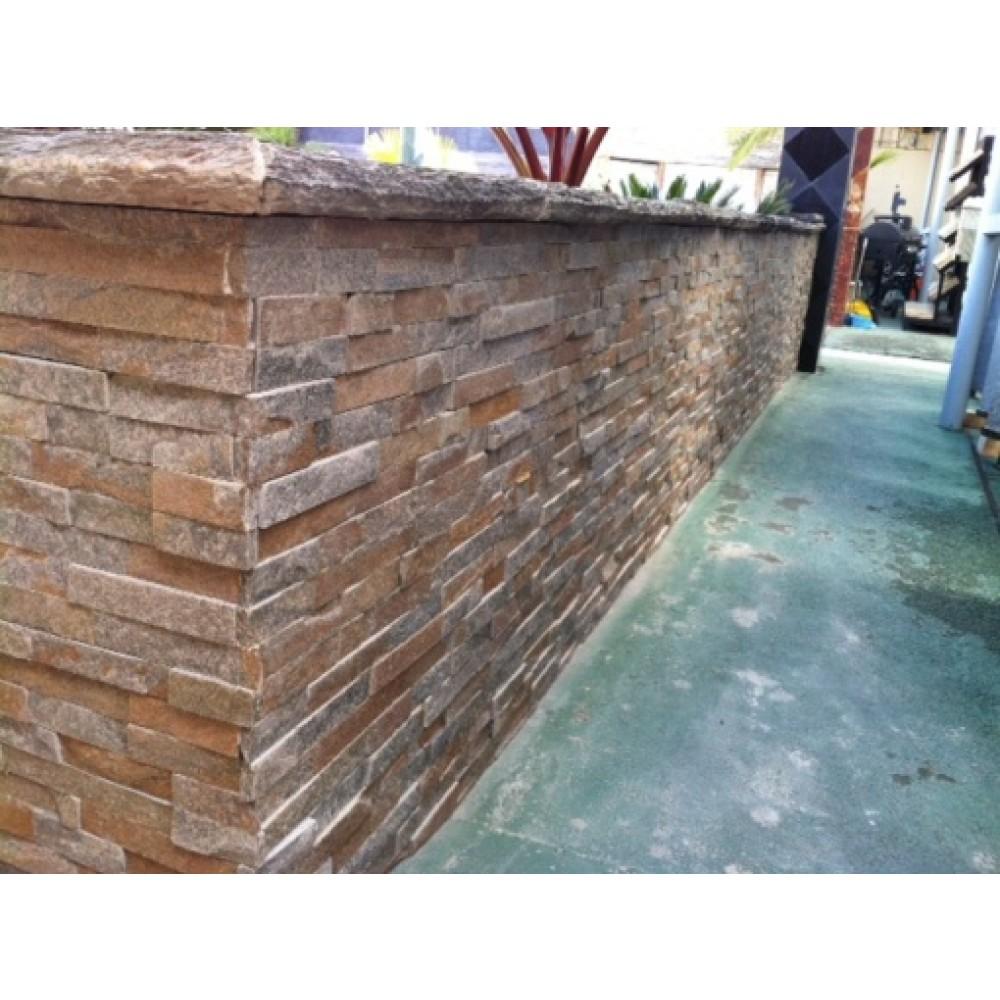 Amber Falls 6x18x6 Split Face Corner Ledger Panel