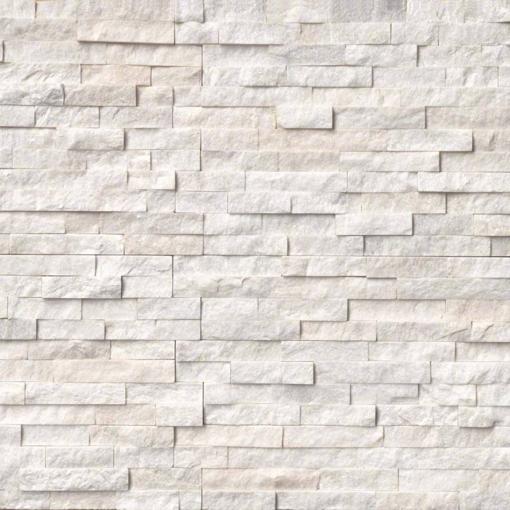 Arctic White 6x18x6 Split Face Corner Ledger Panel