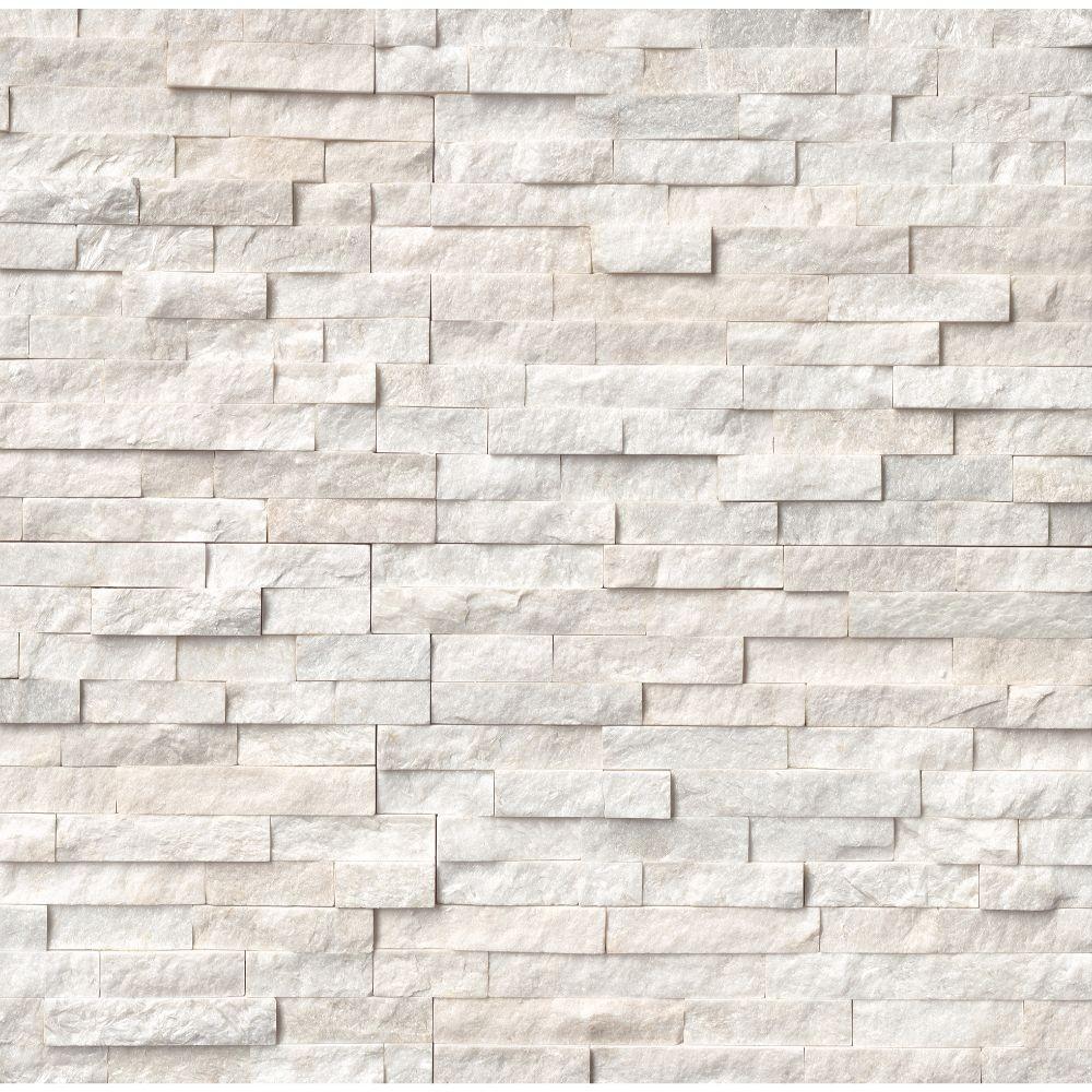Arctic White 6x24 Split Face Ledger Panel