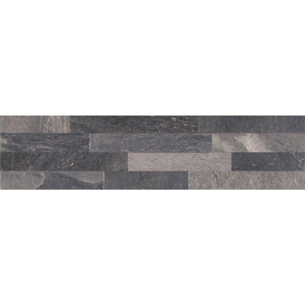 Ardesia Black 6X24 Matte Ledger Panel