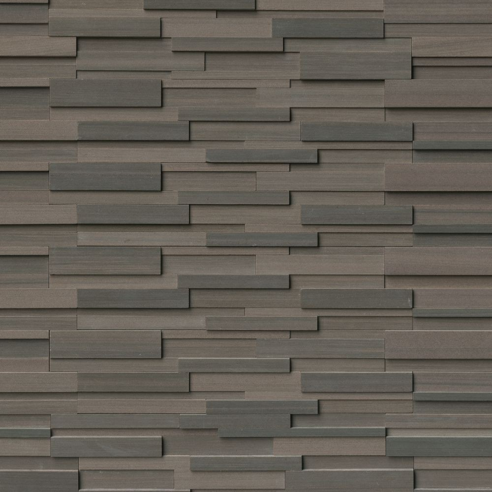 Brown Wave 6x24 3D Honed Ledger Panel