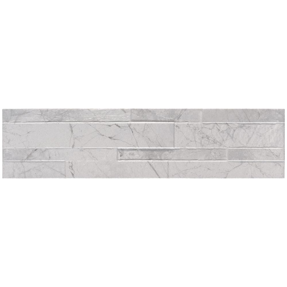 Carrara White 6X24 Matte Porcelain Ledger Panel
