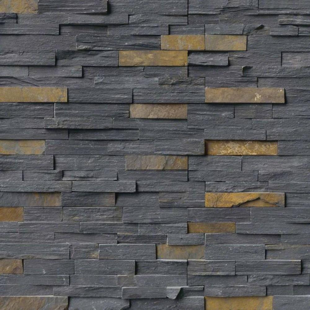 Charcoal Rust Corner 6x18x6 Split Face