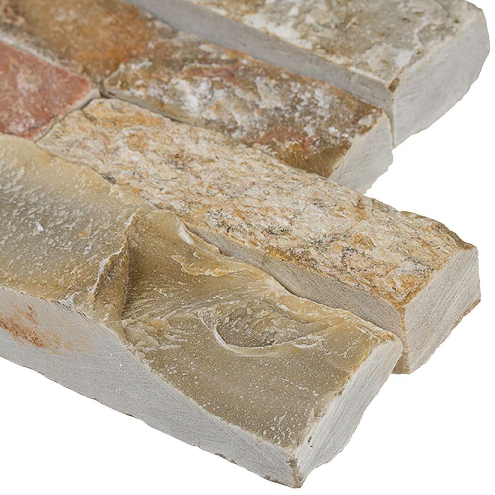 Golden White 6x12x6 Split Face Corner Ledger Panel