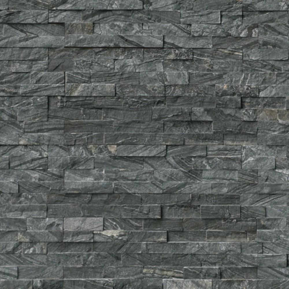Glacial Black 6X18X6 Split Face Corner Ledger Panel