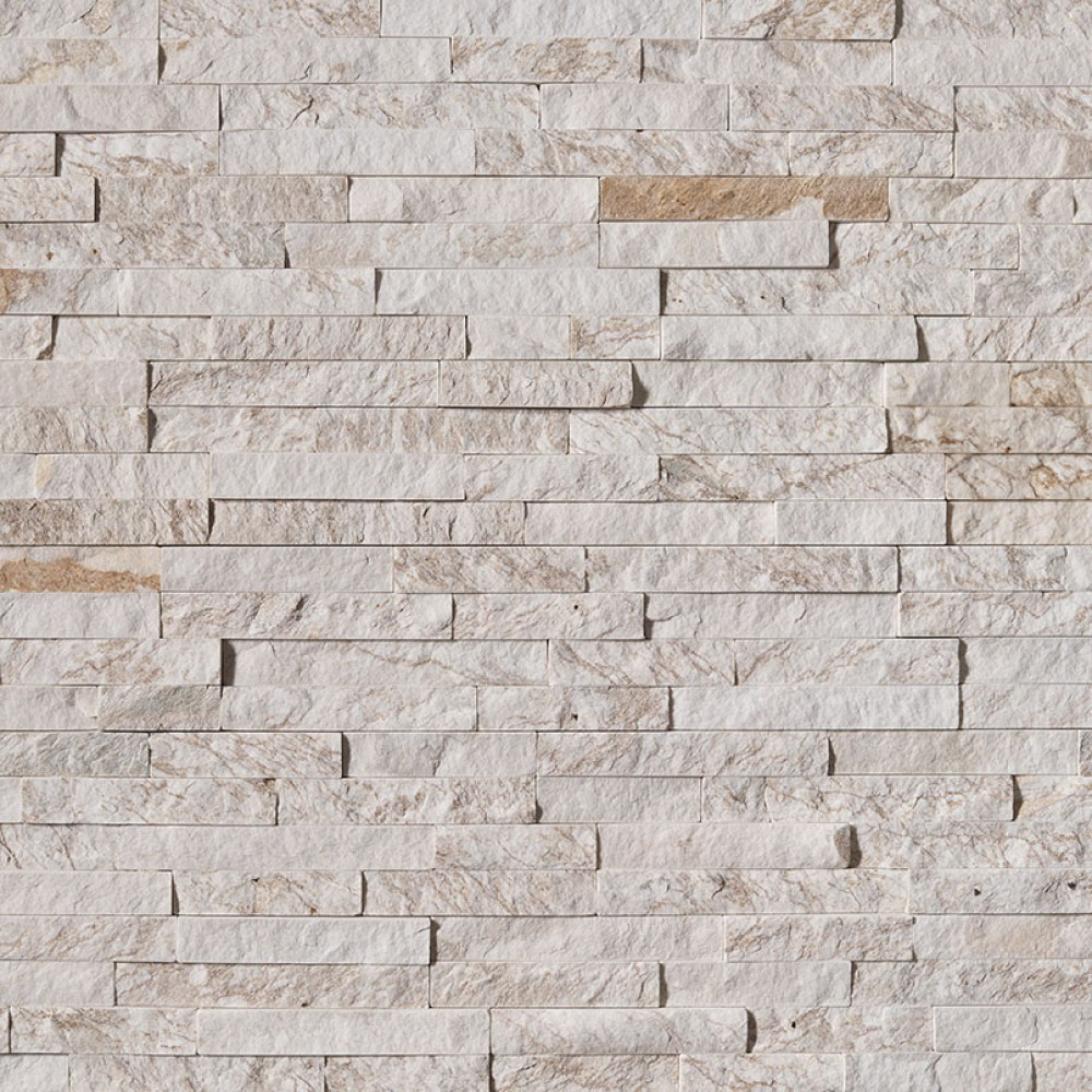 Royal White 6X24 Split Face Ledger Panel