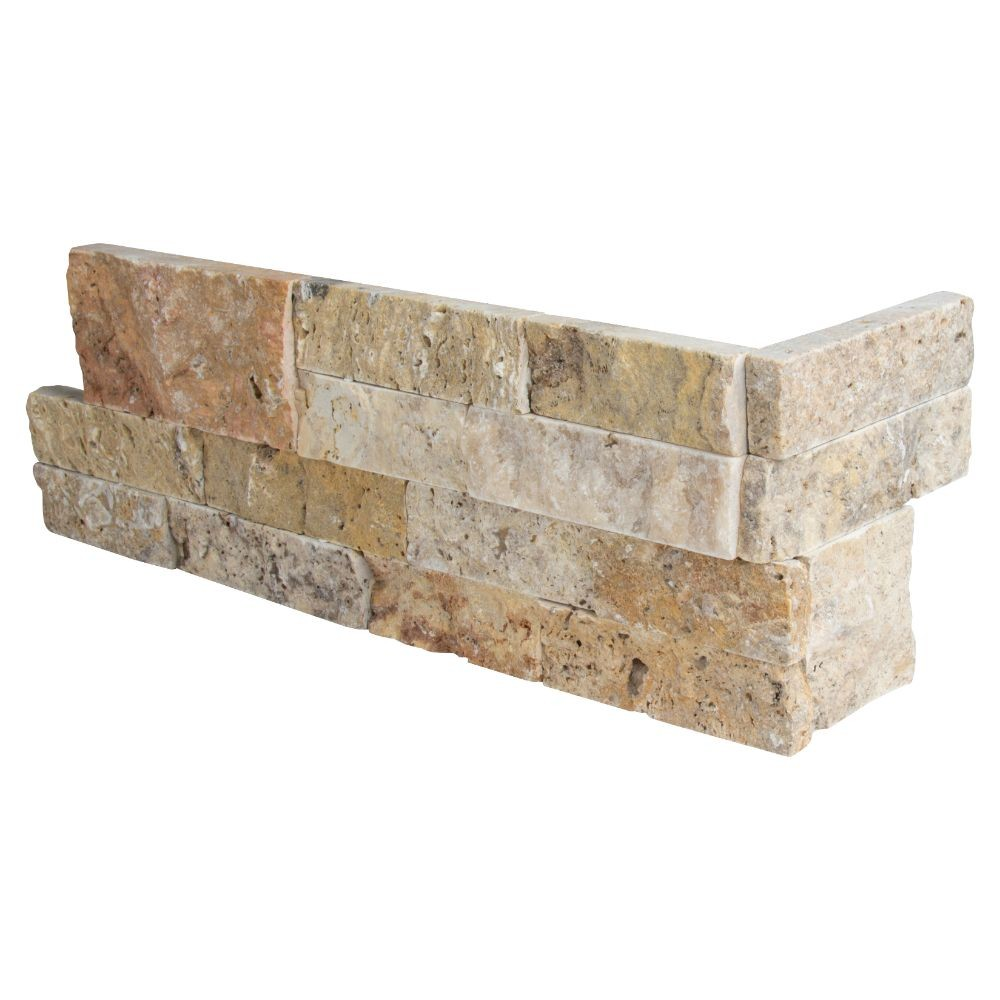 Tuscany Scabas 6X12X6 Split Face Corner Ledger Panel