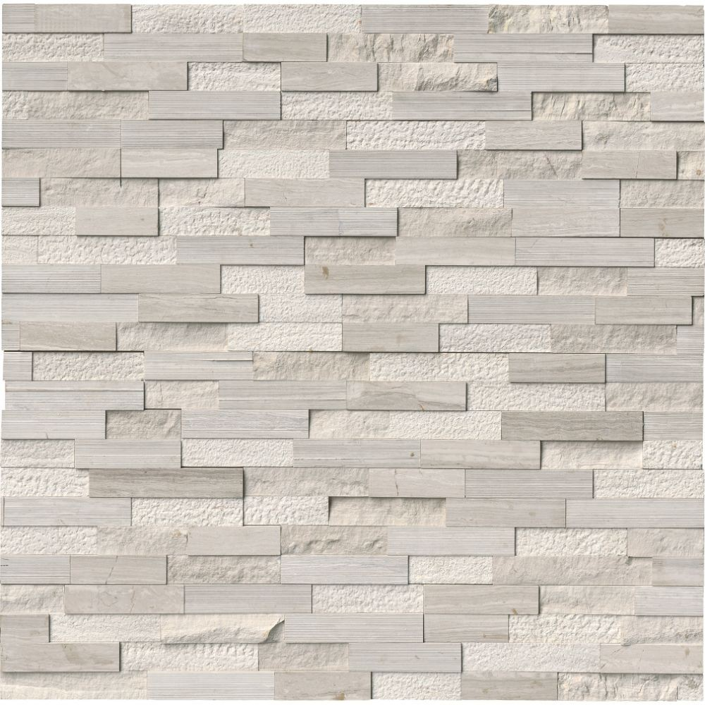 White Oak Multi Splitface 6x12x6 Corner Ledger Panel