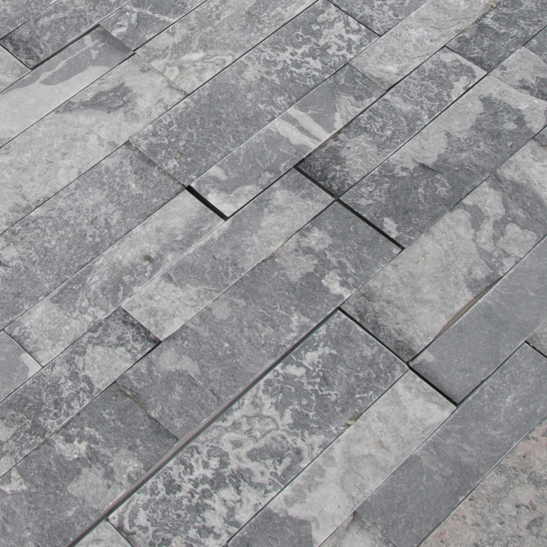 Glacial Grey 6X24 Split Face Ledger Panel