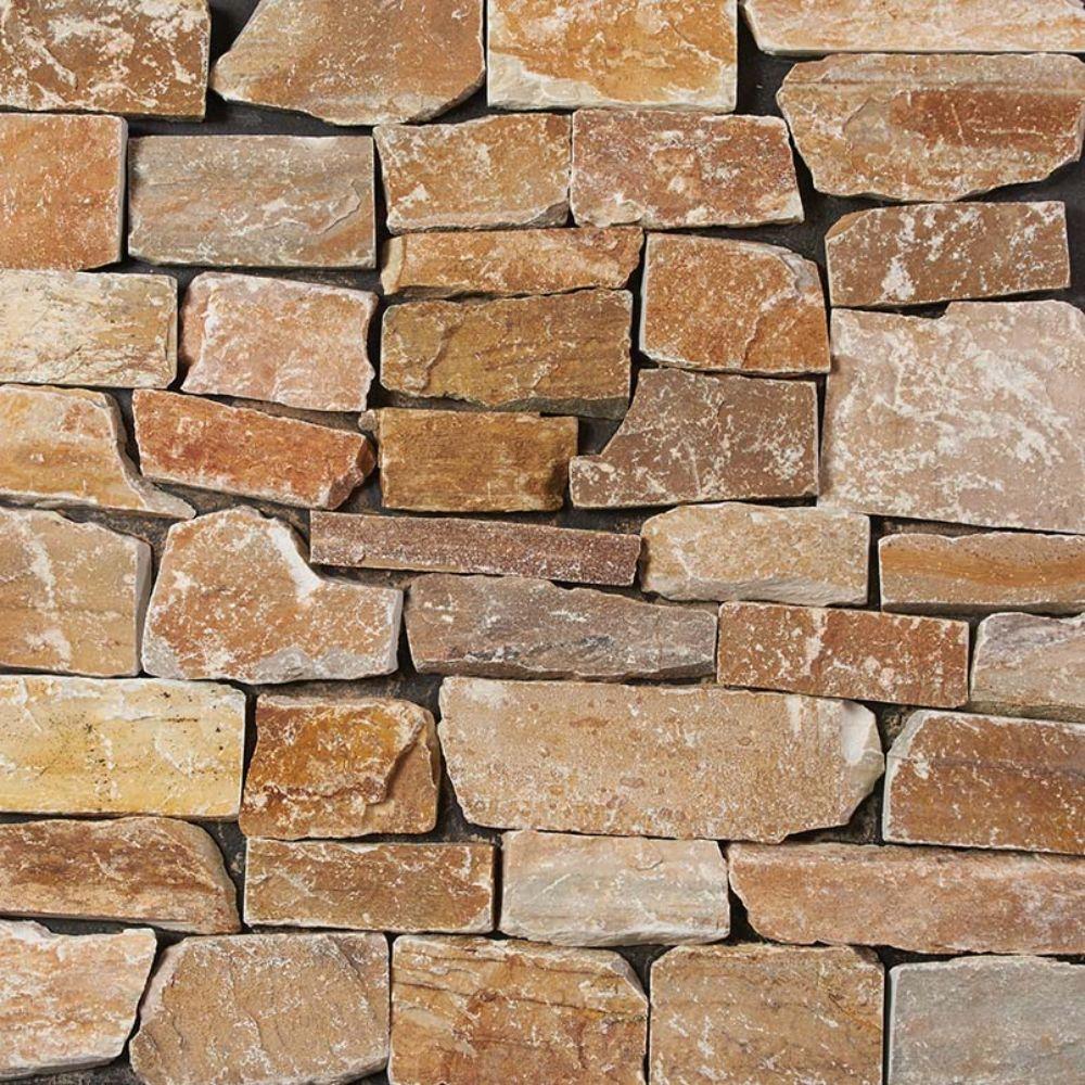 Golden White Natural Splitface Loose Stone Veneers
