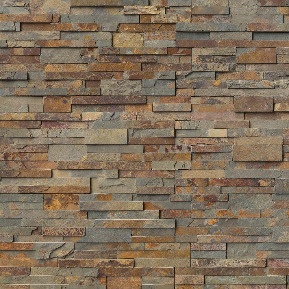 Natural Earth 6X24 Ledger Panel Natural Slate Wall Tile