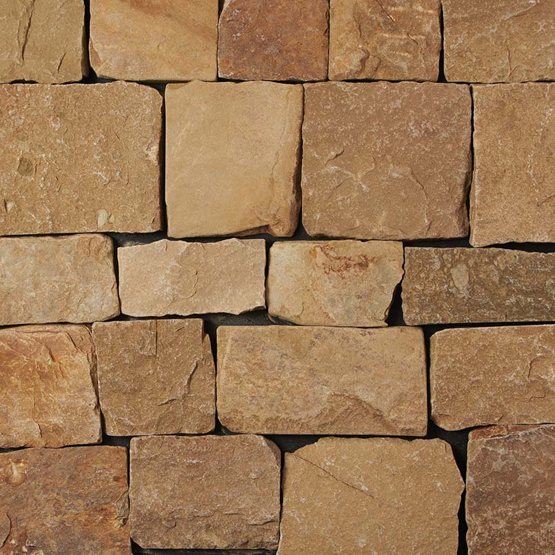 Newport Beige Natural Splitface Loose Veneers Corners-Dry