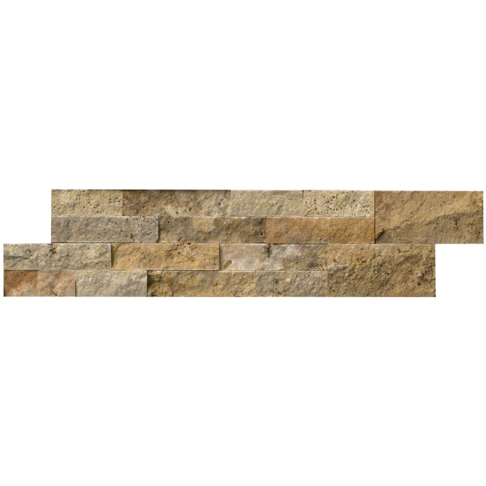Picasso Ledger Panel 6X24 Natural Travertine Wall Tile