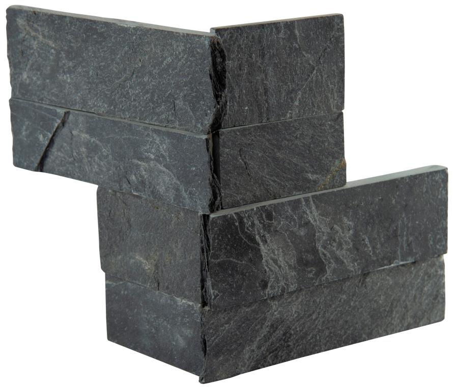 Premium Black 4.5x9 Split Face Mini Corner Ledger Panel