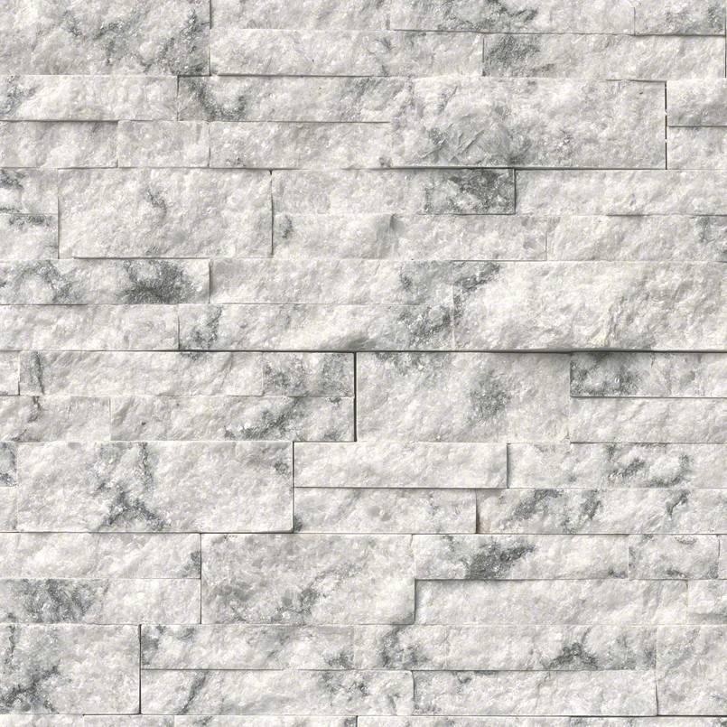 Princess White 6x18x6 Splitface Corner Ledger Panel