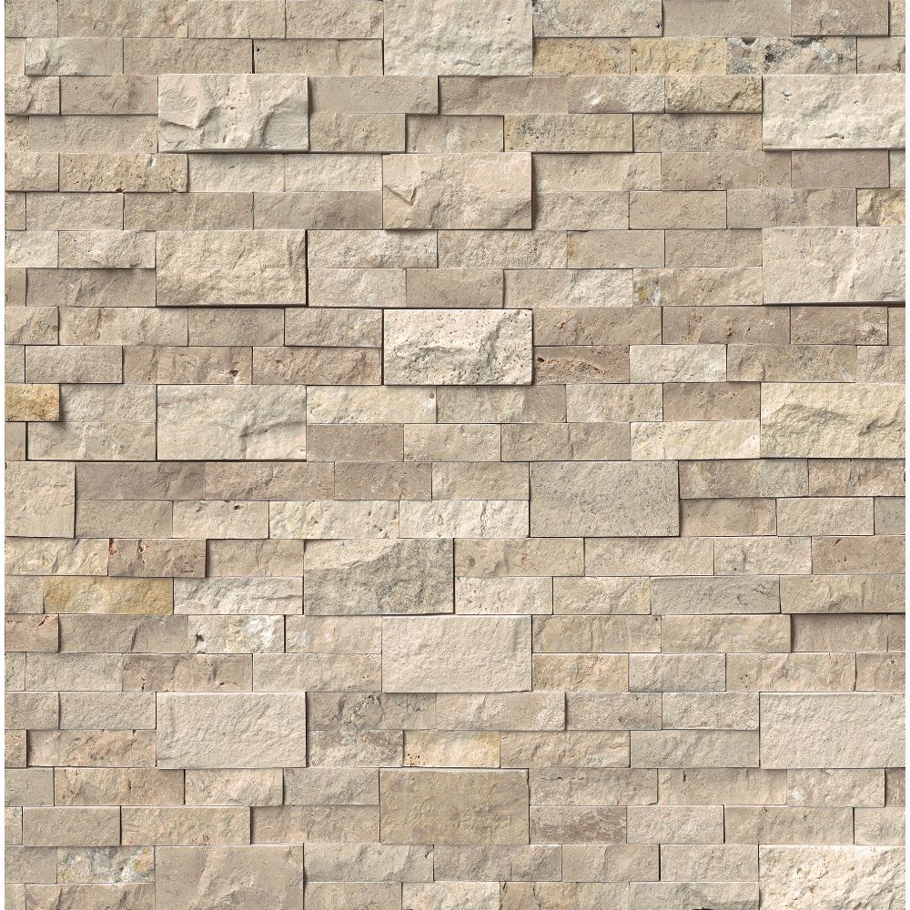 Roman Beige 6X24 Split Face Ledger Panel