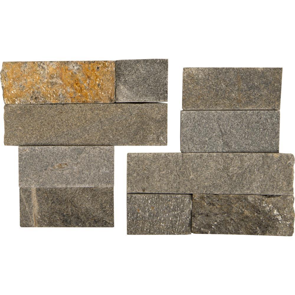 Sedona Grey 6X6 Split Face Corner Ledger Panel