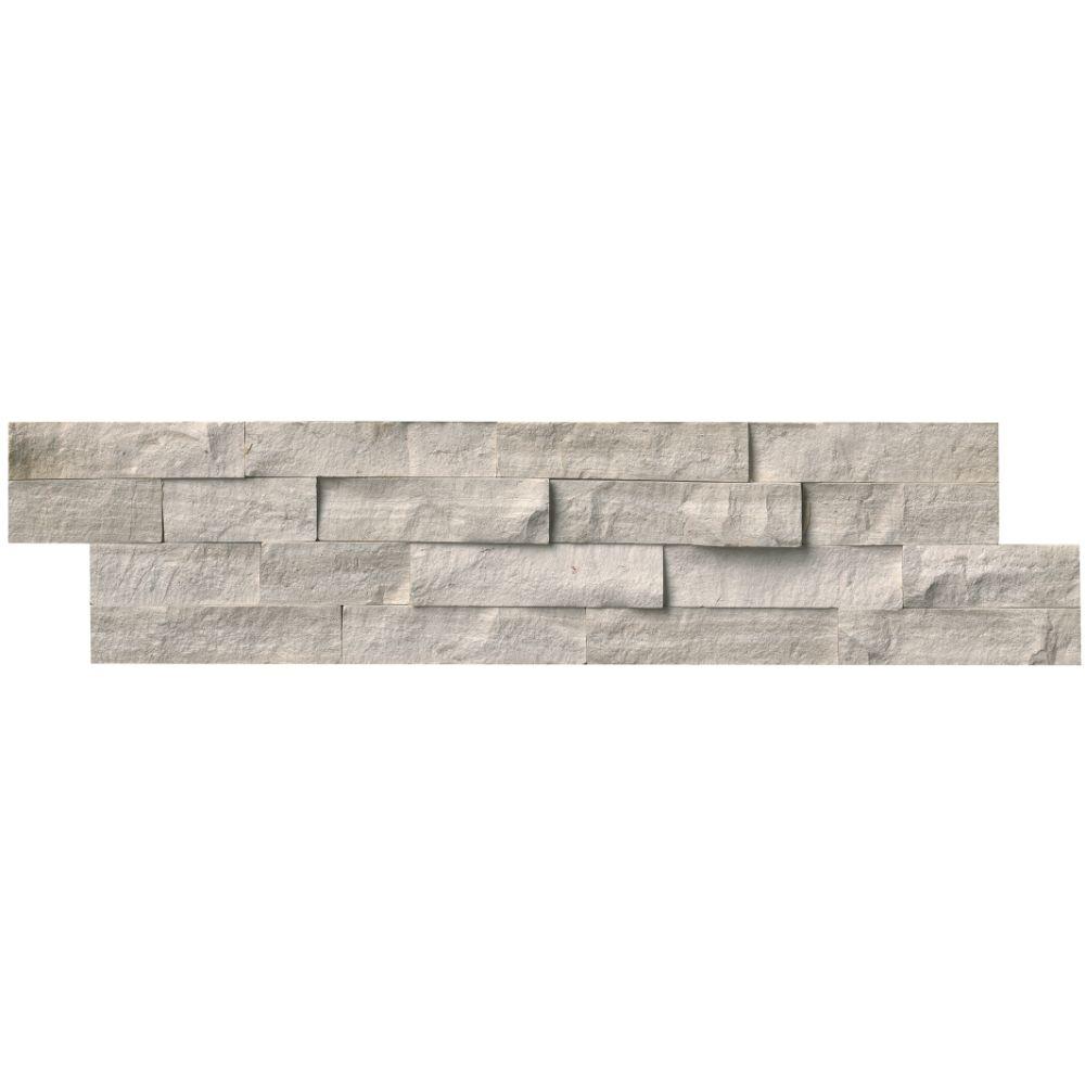 White Oak 6x24 Split Face Ledger Panel