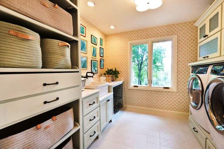 laundry room wall organizer storage system